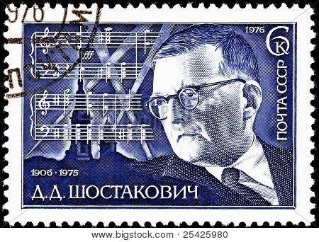 Compositor ruso Dmitri Shostakovich 7Th Symphony Score