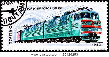 Russian Tul-80 Electric Locomotive Train
