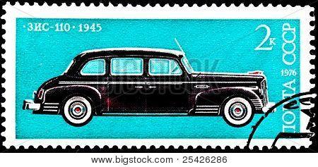 Soviet Russia Zis 110 Limousine Automobile Car