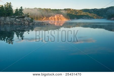 george lake reflections