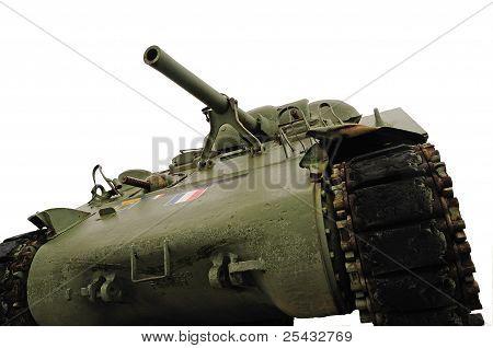 Battle Tank Isolated