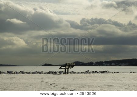 Bench On Bay