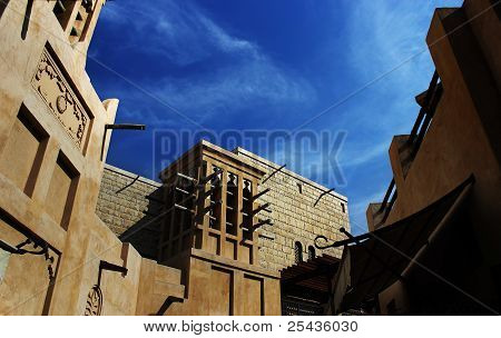 Old Town With Wind Towers
