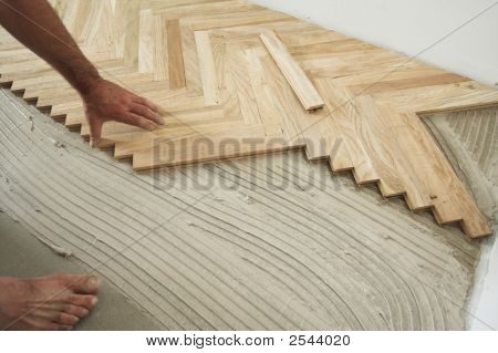 Parquet Floor And Carpenter