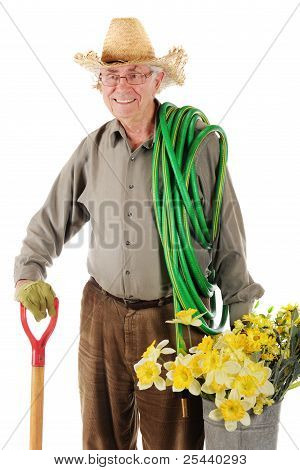 Happy Senior Gardener