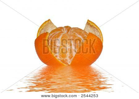 A Tangerine And Reflection