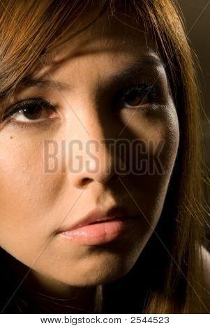 Dramatic Head Shot Of Female - Fashion Series