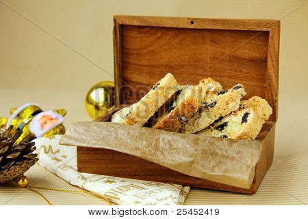 traditional Italian biscotti cookies with almonds