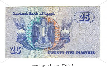 25 Piastre Bill Of Egypt