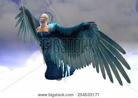 Angel Michael In Flight 3d