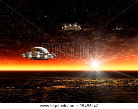 Landscape With Ufo