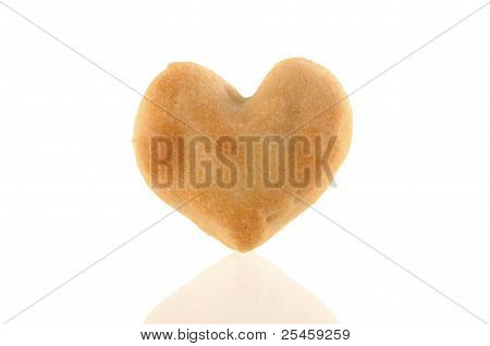 One Heart-shaped Cookie With Reflection