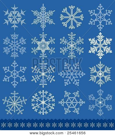 Snowflakes collection for your design. All elements are separate. File is layered