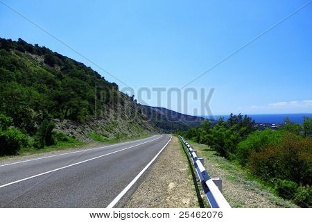 Picture of empty mountain road
