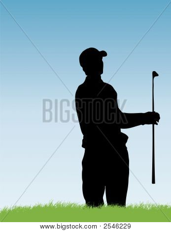 Golfer In Bunker