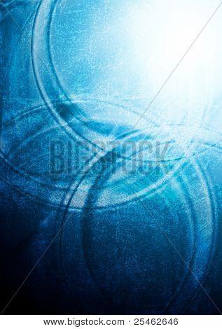 Diseño ondulado azul brillante. Grunge estilo eps 10