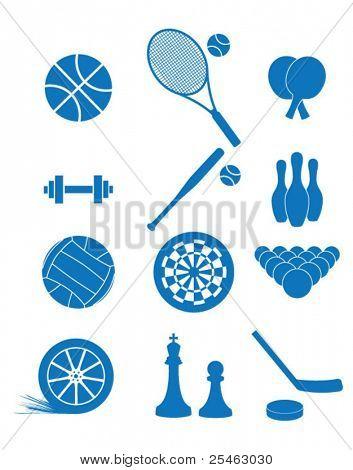 Vektor-Illustration der Ikonen des Sports