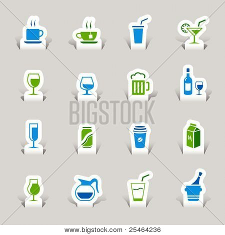 Paper Cut - Drink Icons