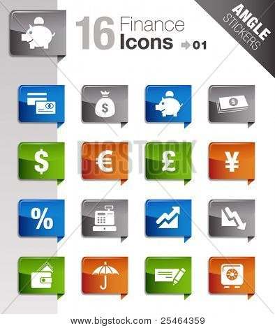 Angle Stickers - Finance icons