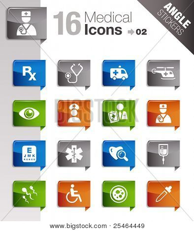 Angle Stickers - Medical And Healthcare Icons