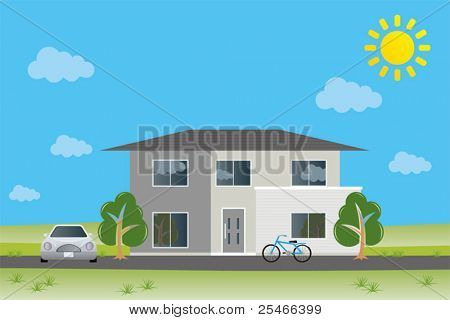 New home. Illustration vector.