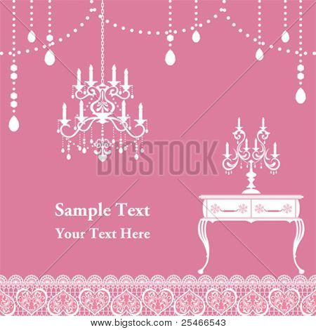 Candle frame. Illustration vector