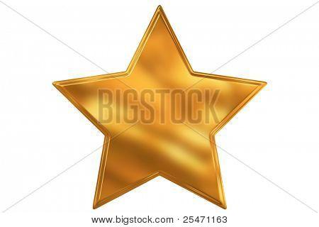 Digital illustration of gold star