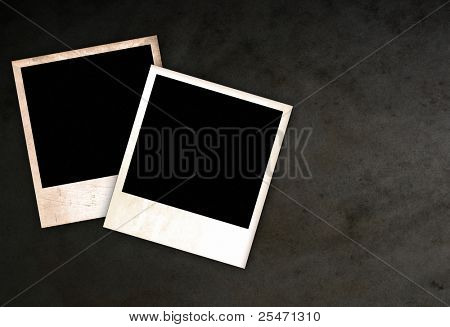 Two old empty frames