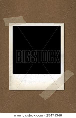 Old  instant photo frame, illustration
