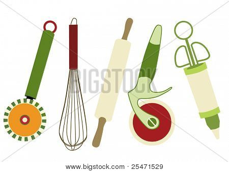 Set of kitchen utensils,vector illustration