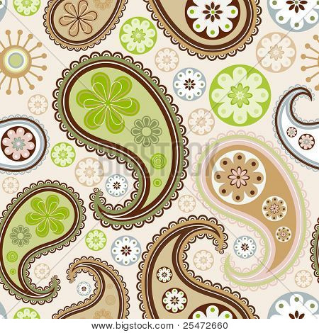 Seamless background from a paisley ornament