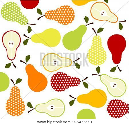 fruits, pears background