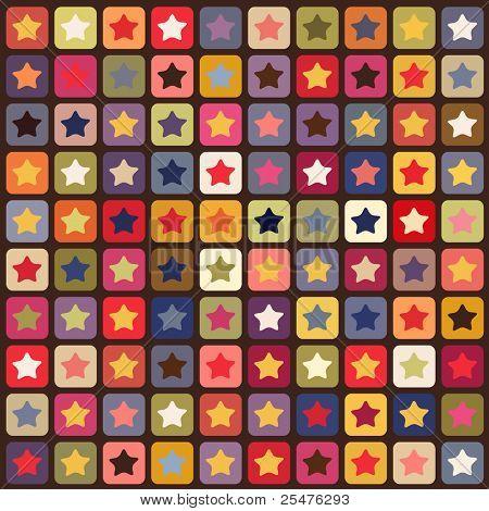 Seamless stars colorful pattern