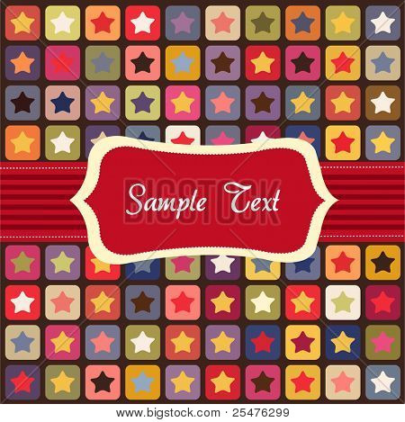 Seamless stars colorful pattern, card