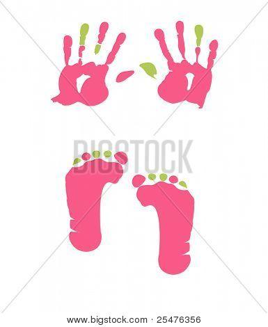 footprint and handprint