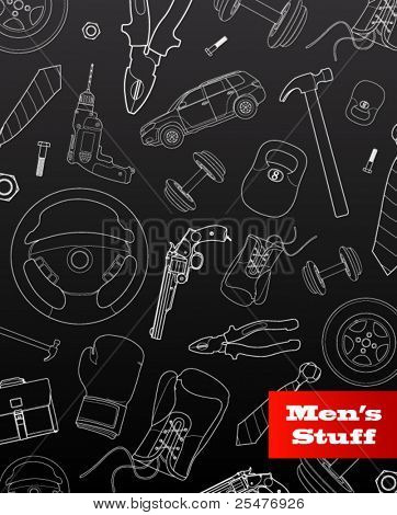 Men's stuff graphic set