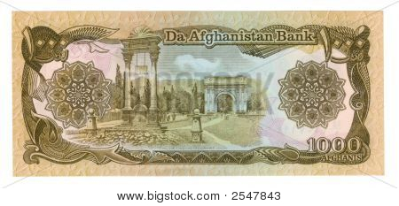 1000 Afghani Bill Of Afghanistan