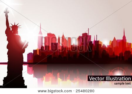 Skyline de nova york. Vector