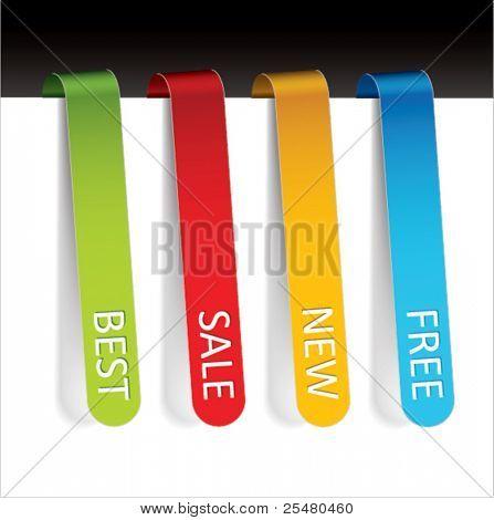 Multicolored Bookmarks.