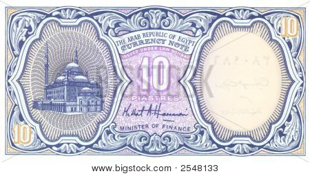 10 Piastre Bill Of Egypt
