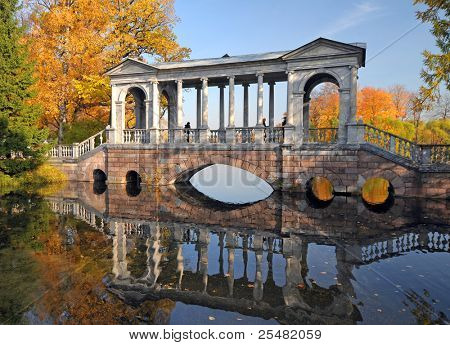 Bridge in Catherine park, Pushkin, Russia