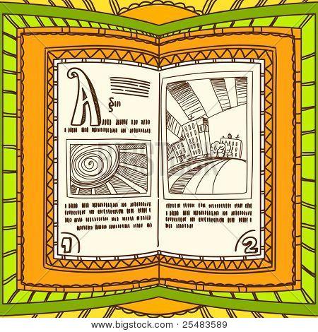 Graceful ornamented book