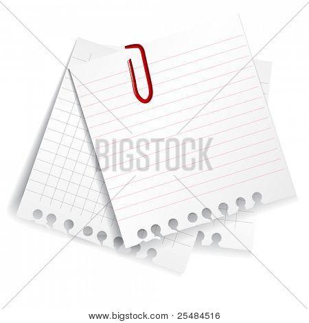 Paper sheets set
