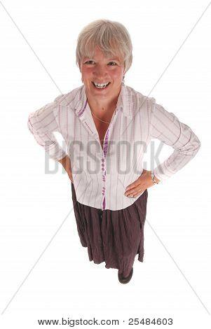 Full Body Portrait Of A Senior Business Woman