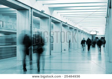 Metro station and passengers