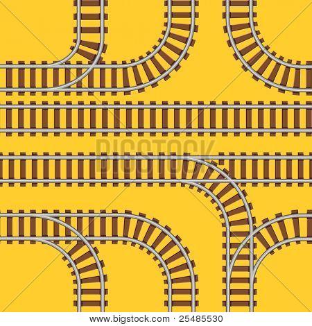 Seamless railroad background