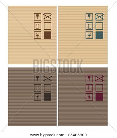 Cardbox vector textures. dark and bright