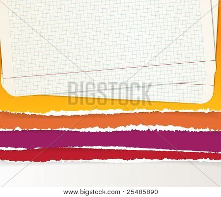 Backgrounds of divided color paper sheets
