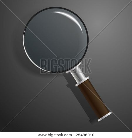 Vector model of magnifier on black