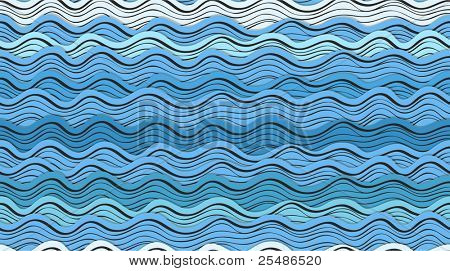 Seamless background of abstract blue waves